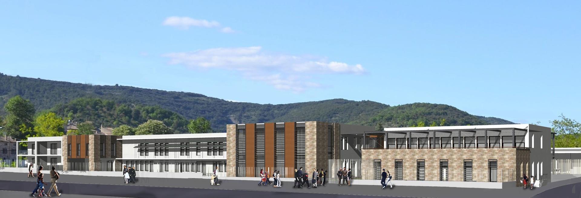 Nouveau collège de Vallon Pont d'Arc - Projet